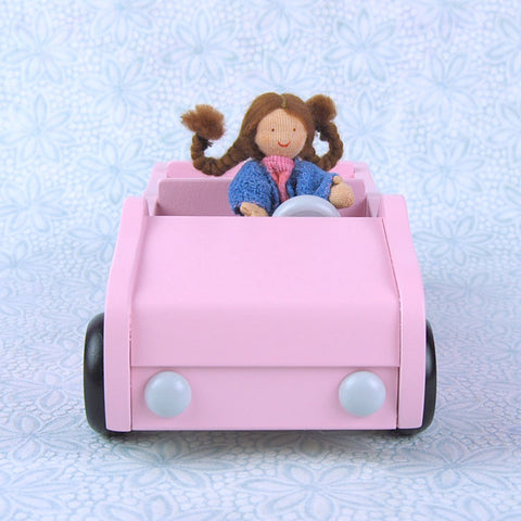 Dollhouse Doll Car in Pink
