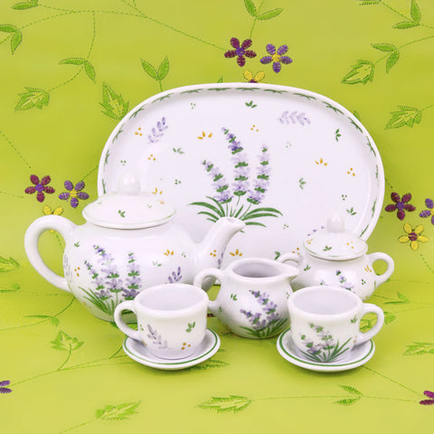Doll Lavender Garden Tea Set