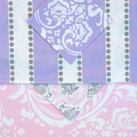 Doll Lavender Stripes Table Linens
