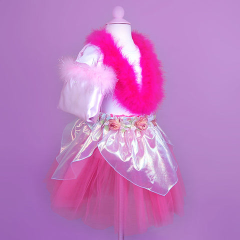 Girl's Dress Up Clothing Pink Marabou Boa
