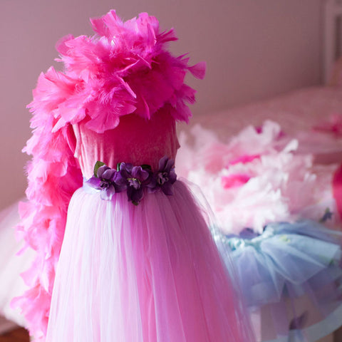 Girl's Dress Up Clothing Hot Pink Feather Boa