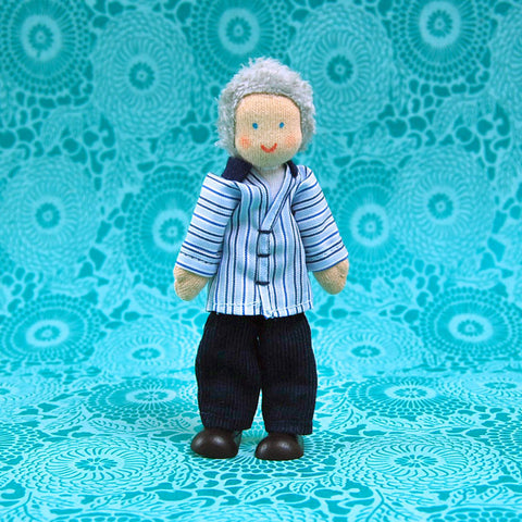 Eco-Friendly Dollhouse Doll Grandpa Slate
