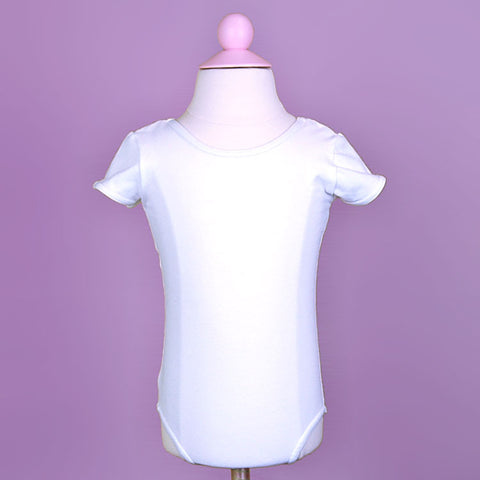 Child's White Leotard Front