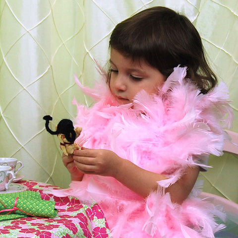 Girl's Dress Up Clothing Light Pink Feather Boa