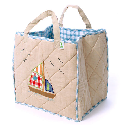 Child's Nautical Toy Tote