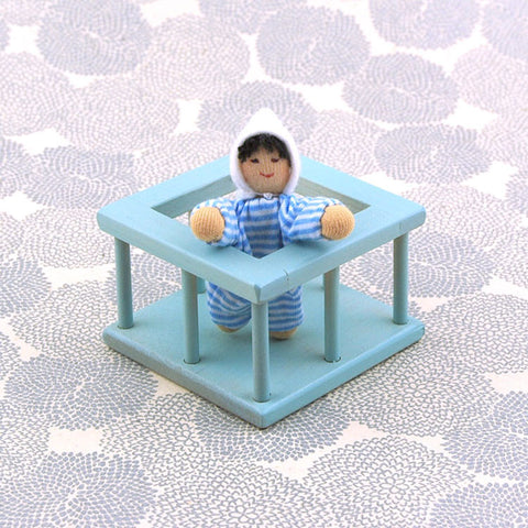 Eco-Friendly Dollhouse Furniture Aqua Nursery
