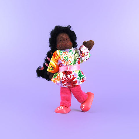 Eco-Friendly Dollhouse Girl Doll Petunia