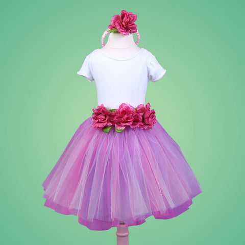 Child's Dress Up Pink Flower Tutu