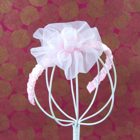 Tulle Rose Fascinator Headband