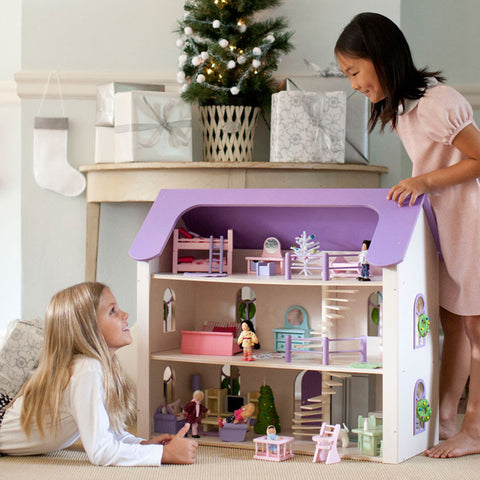 Eco-Friendly Dollhouse Raspberry Road Manor in Lilac