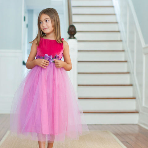 Child's Dress Up Sleeveless Tulle Gown
