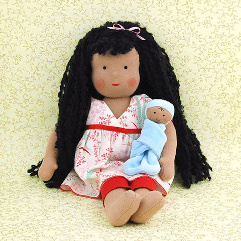 Eco-Friendly 15 Inch Doll Sophie Snickerdoodle and Baby Sprinkles