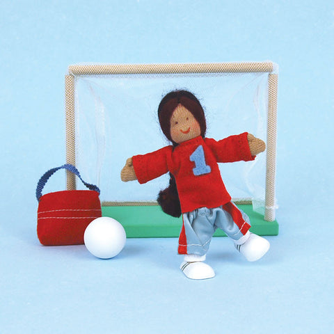 Eco-Friendly Dollhouse Girl Doll Sunny the Soccer Star