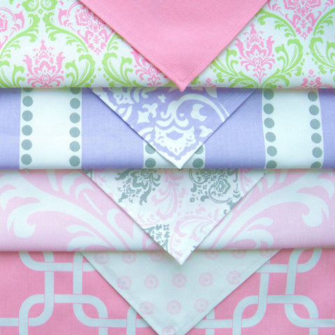 Child's Pink Geometric Table Linens