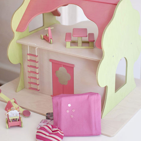 Eco-Friendly Dollhouse TreeHouse and Play Set