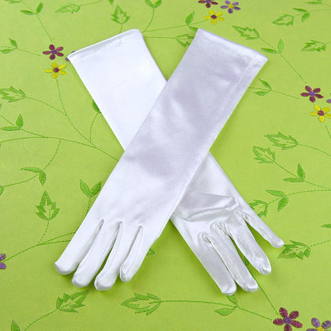 White Dress Up Gloves Long