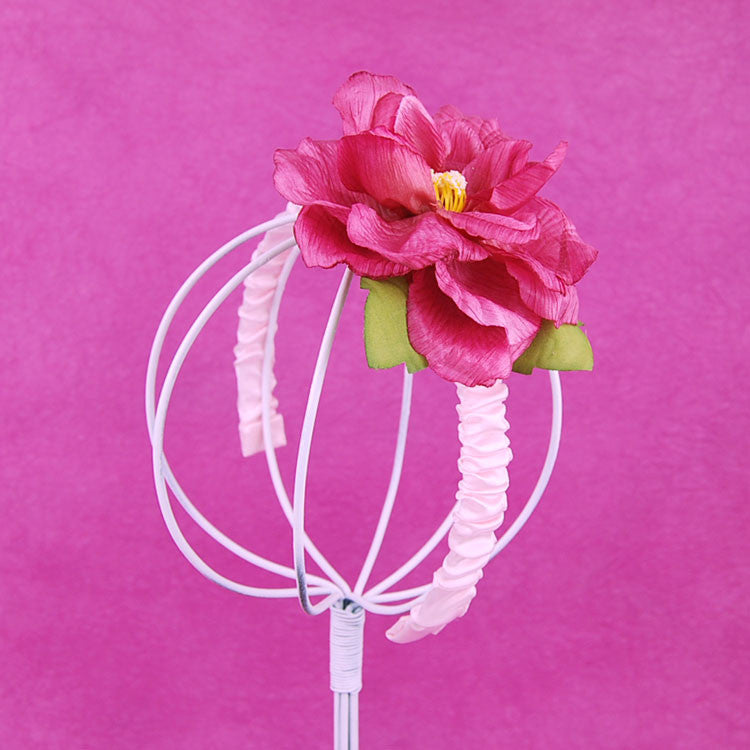 Pink Flower Fascinator Headband Once Upon A Treehouse