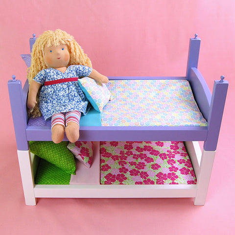 15 Inch Doll Bed in Lilac
