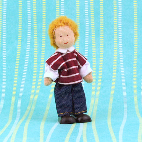 Eco-Friendly Dollhouse Boy Doll Reed