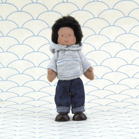 Eco-Friendly Dollhouse Boy Doll Stone