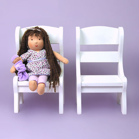 White Doll Chairs Set