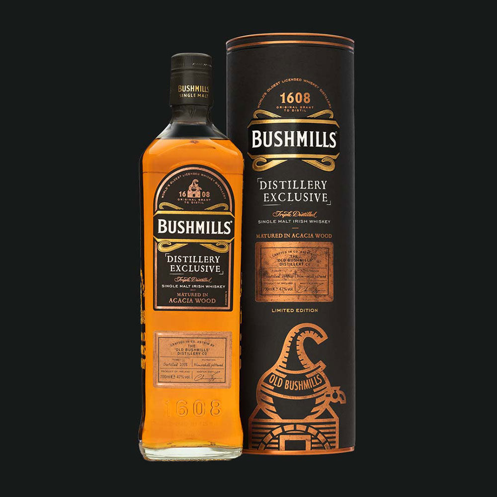 Bushmills Single Malt Irish Whiskey Acacia Wood
