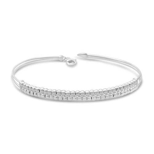 Stones & Silver Monaco Coll SS Double Layer Ball Bracelet