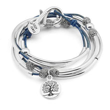 Load image into Gallery viewer, Lizzy James Bracelet/Necklace April - Natural True Blue-Salt Lines Design