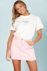 Daisy Says Cropped Tee-Salt Lines Design