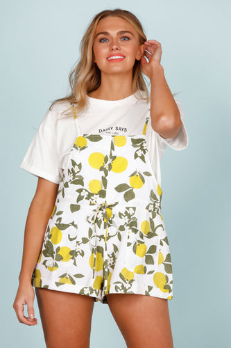 Daisy Says Lemon Pop Playsuit-Salt Lines Design