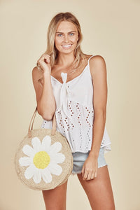 Daisy Says Daisy Chain Bag-Salt Lines Design