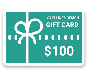 Gift Card-Salt Lines Design