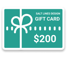 Load image into Gallery viewer, Gift Card-Salt Lines Design