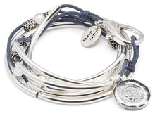 Load image into Gallery viewer, Lizzy James Bracelet/Necklace Summer - Gloss Navy-Salt Lines Design