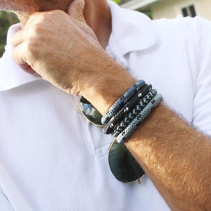Mr James Bracelet Rocky - Grey