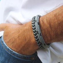 Load image into Gallery viewer, Mr James Bracelet Rocky - Grey-Salt Lines Design