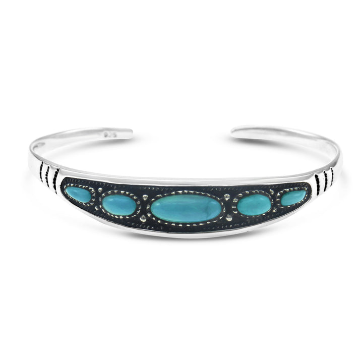 Stones & Silver Boho Collection Turquoise Cuff-Salt Lines Design