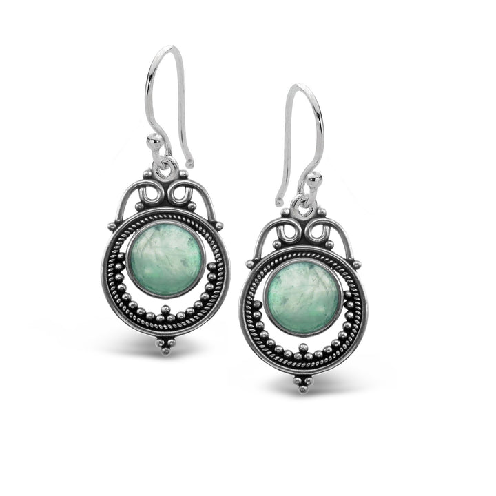 Stones & Silver Nevada Range Fluorite Earrings-Salt Lines Design