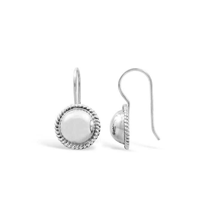 Stones & Silver Sterling Silver Earrings-Salt Lines Design