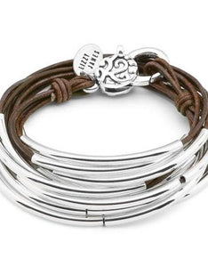 Lizzy James Bracelet/Necklace Lizzy Classic - Natural Antique Brown
