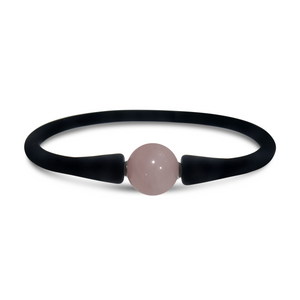 Stones & Silver Silicone Bracelet