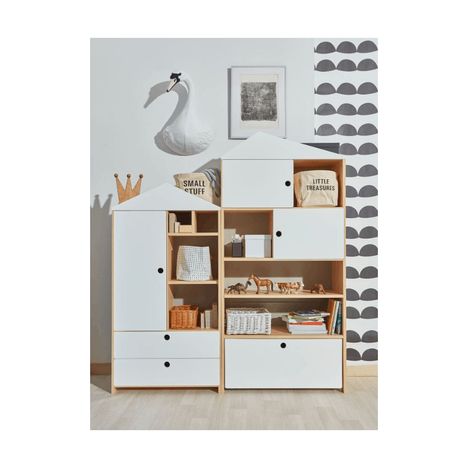 Amsterdam - Kids East Bookcase in White & Oak
