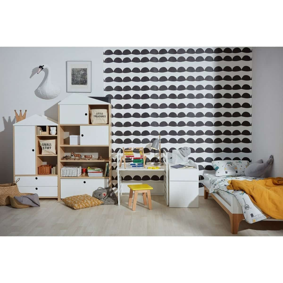 Amsterdam - Kids East Bookcase in White & Oak  from interie furniture