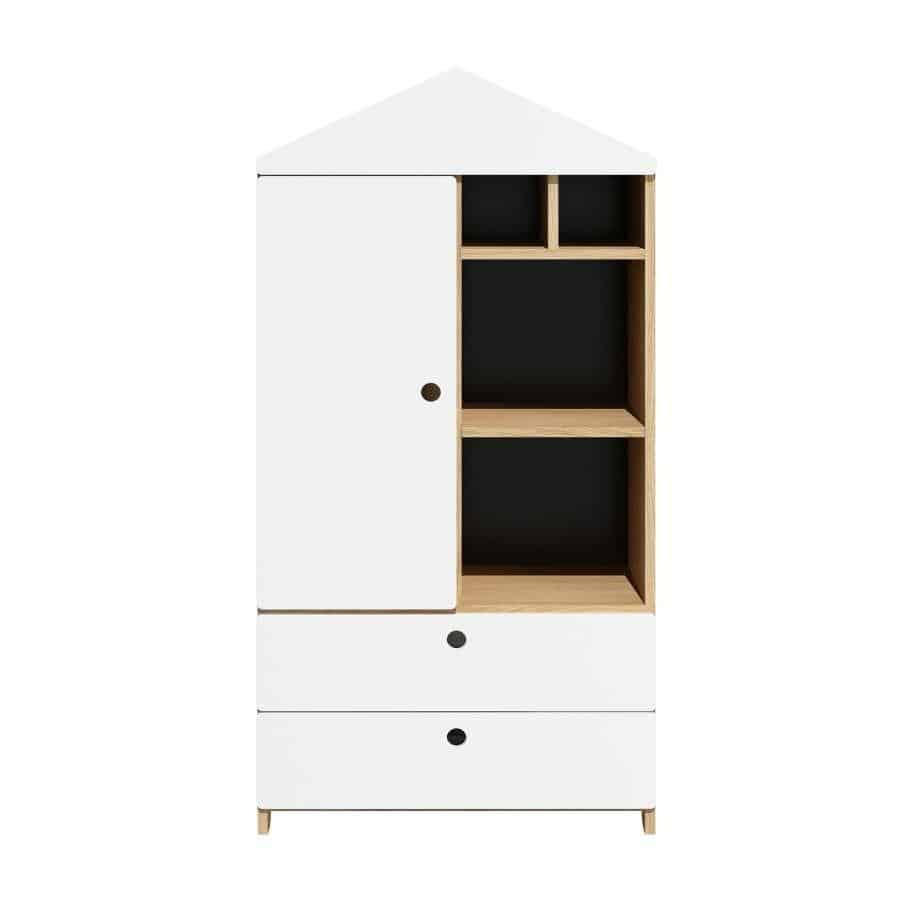 Amsterdam - Kids West Bookcase in White & Oak  from interie furniture