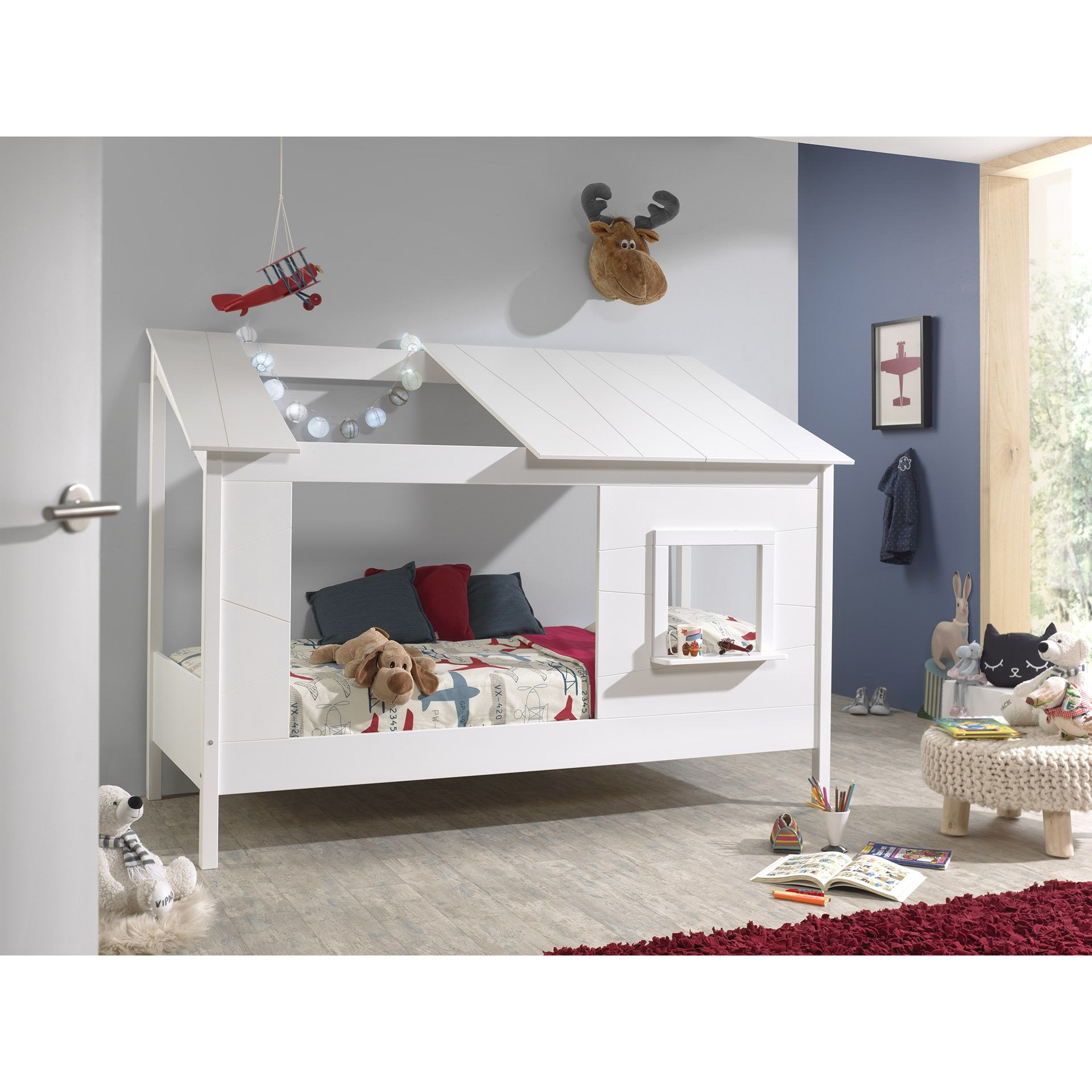 Kids - Housebed with Window in White