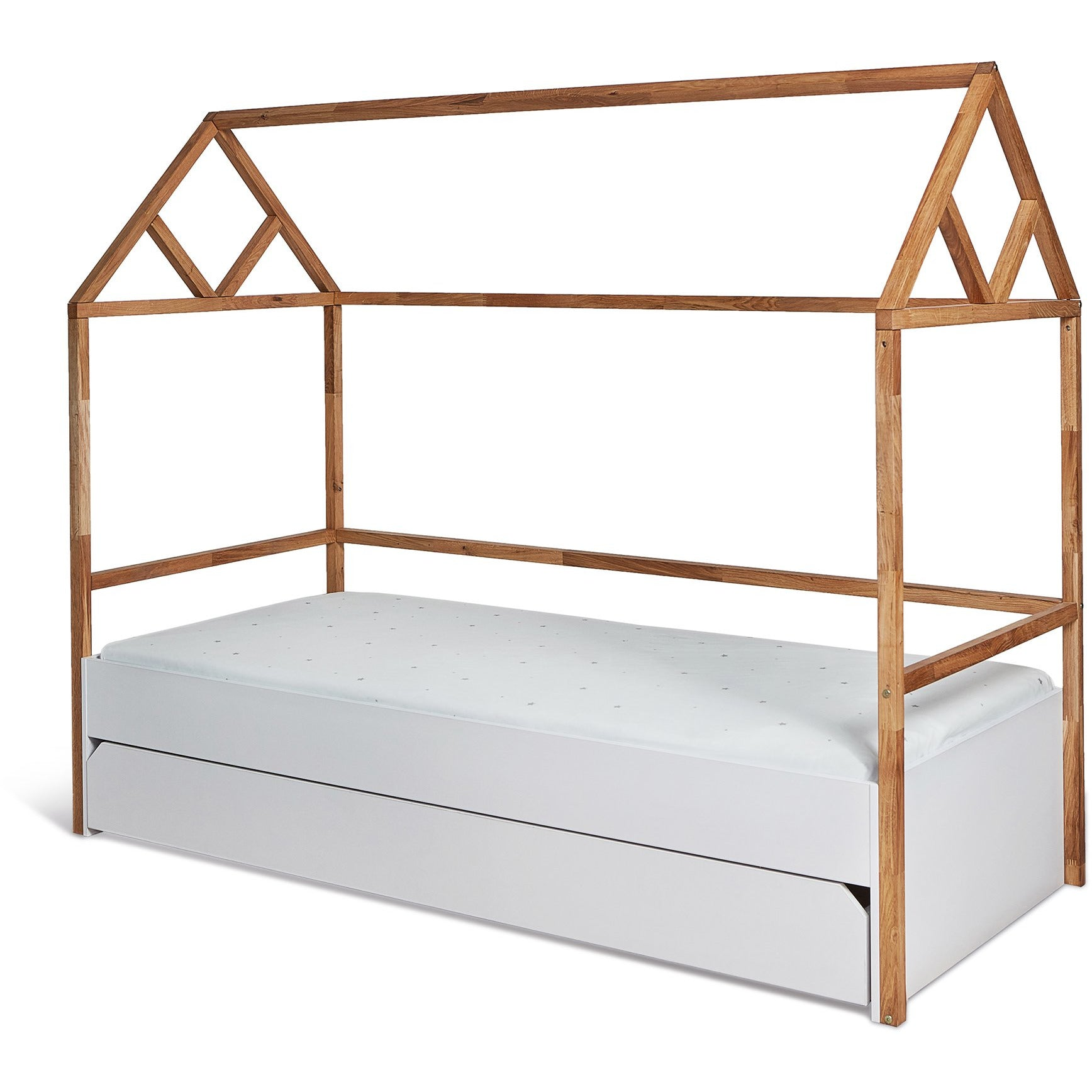 Lotta Young User - Kids Single House Bed in Oak