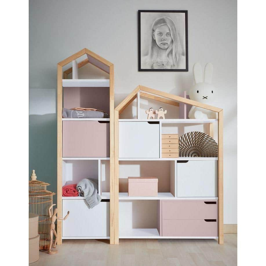 Manhattan - Phoebe Kids Bookcase in White & Pine Wood  from interie furniture