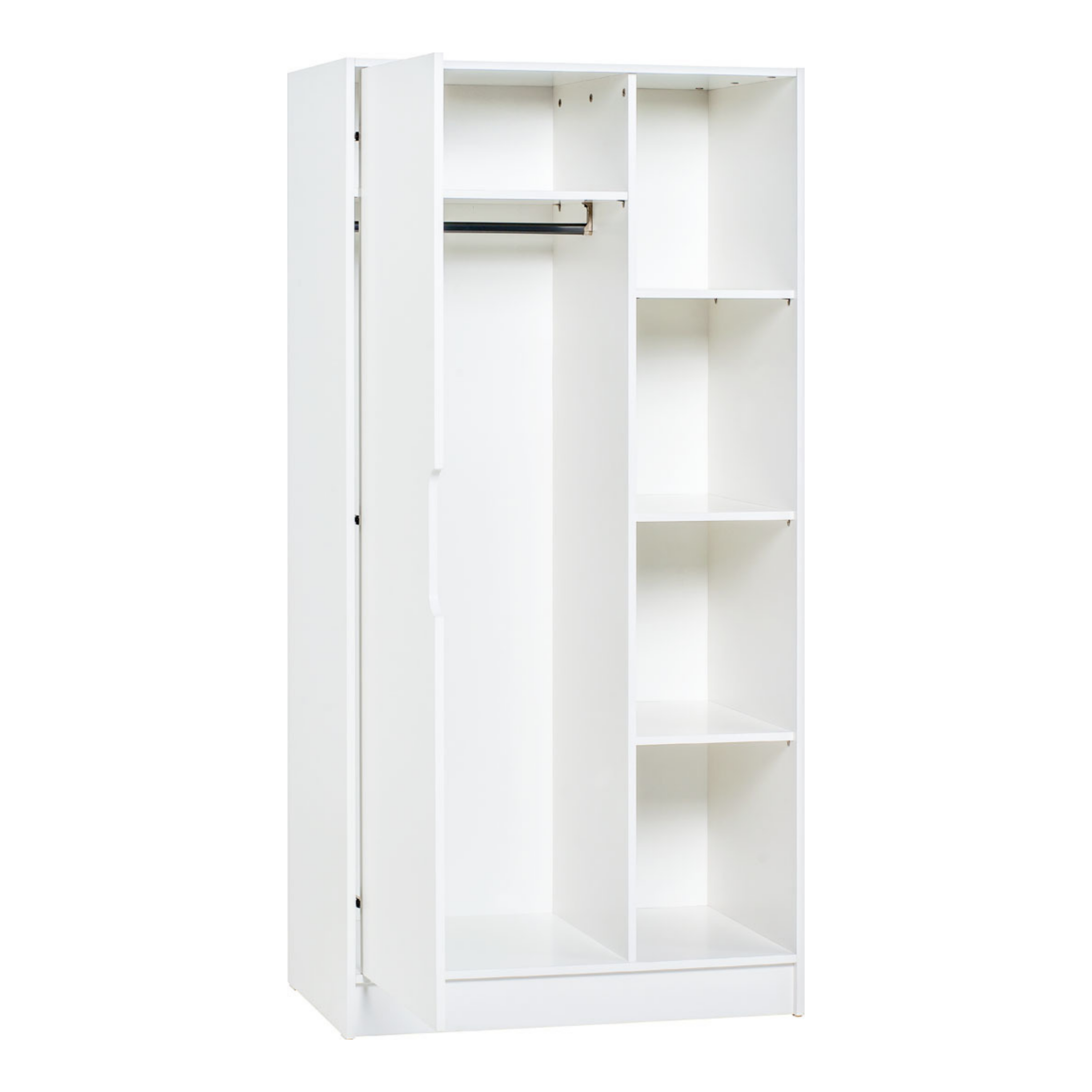Maxim - 1 Door Wardrobe with Open Shelves
