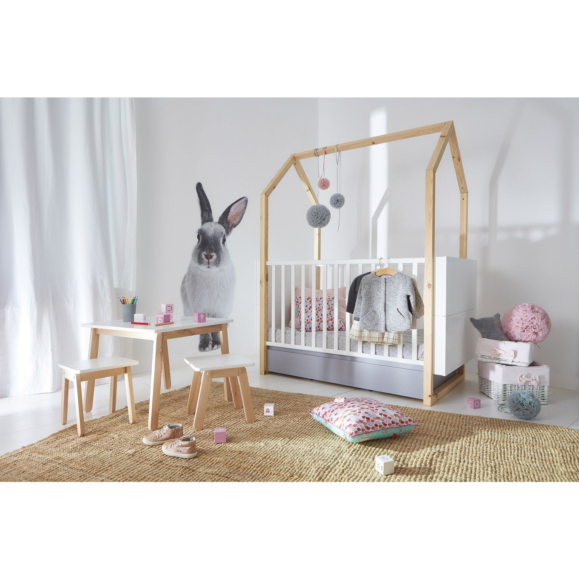 Pinette 2 Piece Cot Nursery Set
