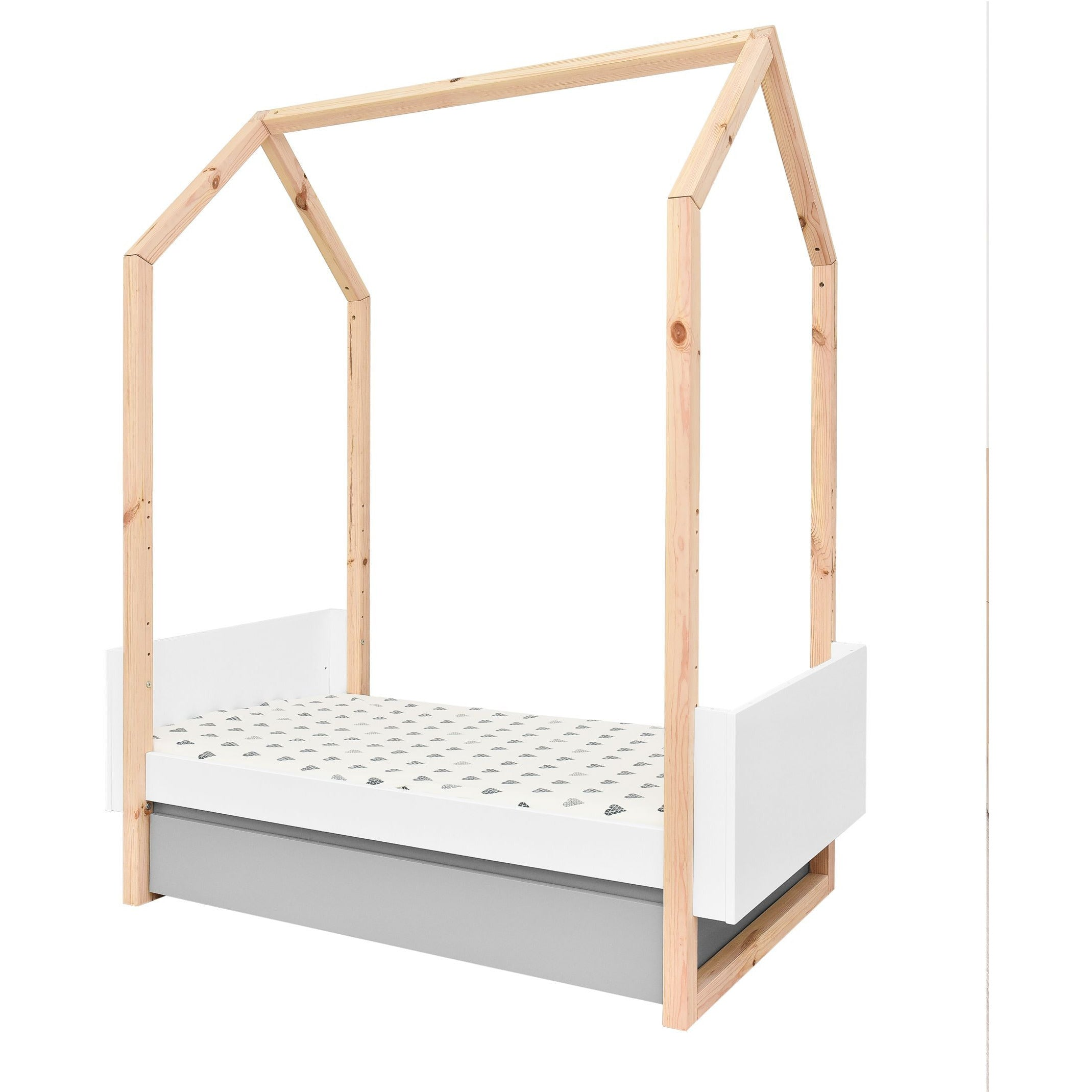 Pinette - House Frame Cot Bed 70x140cm